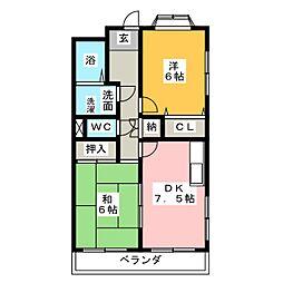 SATマンション[2階]の間取り