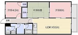 ローレルコート福島[3階]の間取り