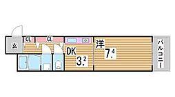 兵庫県神戸市中央区布引町2丁目の賃貸マンションの間取り