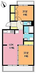 富士見グリーンコーポ[205号室]の間取り