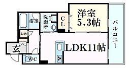 シャーメゾンMV-VII 3階1LDKの間取り