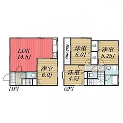 [一戸建] 千葉県千葉市中央区院内1丁目 の賃貸【/】の間取り