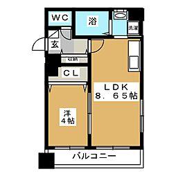 レジデンスカープ札幌[14階]の間取り