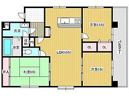メゾングレース[3階]の間取り
