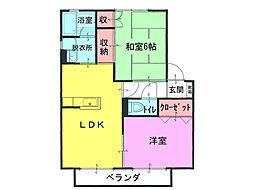 平塚ハイツ5[1階]の間取り