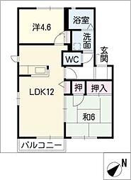 アブニールA棟[2階]の間取り