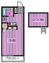 王京ガーデンパレス大宮[2階]の間取り