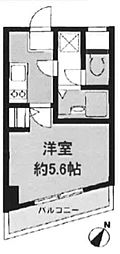 東京都新宿区住吉町の賃貸マンションの間取り