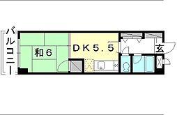 メゾンミヤザキ山越[401 号室号室]の間取り