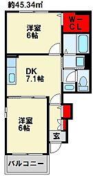 Kirara B[1階]の間取り