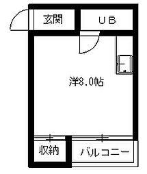 メゾン田町[203号室]の間取り