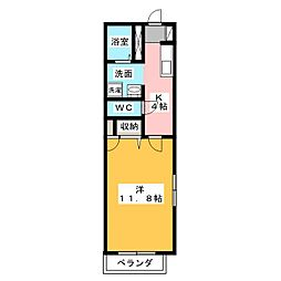 コーポY[2階]の間取り