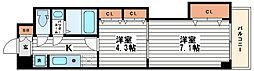 セントラル南船場[10階]の間取り