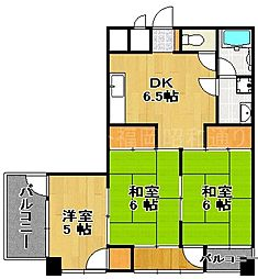 チサンマンション第5博多[8階]の間取り