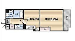O.G.S FUKUSHIMA[5階]の間取り