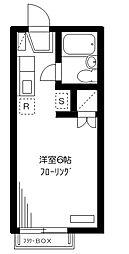 東京都品川区西品川3丁目の賃貸アパートの間取り