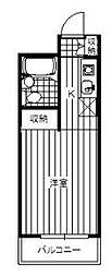 東京都板橋区中台3丁目の賃貸マンションの間取り