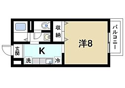 アイビー21 B[1階]の間取り