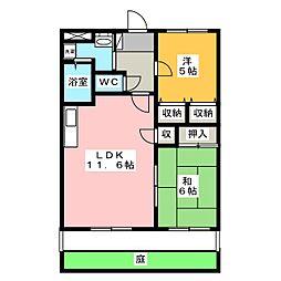 パークサイド21[1階]の間取り