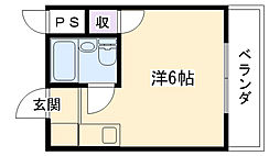 シャルマン武庫川[101号室]の間取り