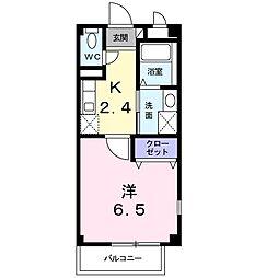 福岡県北九州市八幡西区穴生2丁目の賃貸アパートの間取り
