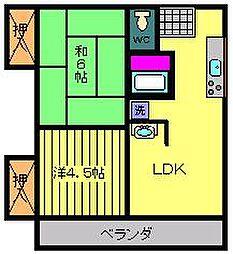 コーポイブスキ 2[2階]の間取り