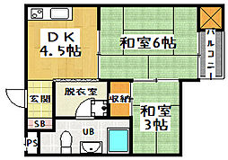 ニューヴィラ京都[2階]の間取り
