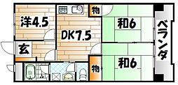 シャトレ苅田II[5階]の間取り