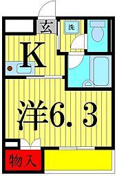 東京都足立区梅田3丁目の賃貸マンションの間取り