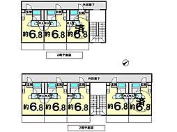 サザンバレー[3A-3B号室]の間取り