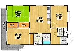 第3稲野マンション[1階]の間取り
