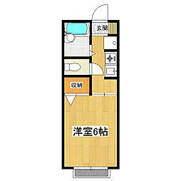 乙戸パークハイツ[2階]の間取り