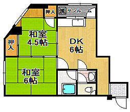 平尾ビル[5階]の間取り