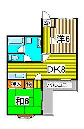 コーラルスターガーデン[2階]の間取り