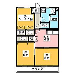 静岡県焼津市大覚寺の賃貸マンションの間取り