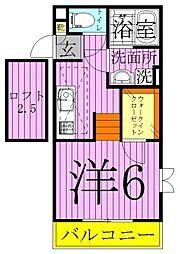 タカラコート2[2階]の間取り