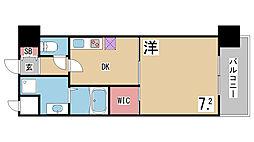 兵庫県神戸市兵庫区上沢通3丁目の賃貸マンションの間取り