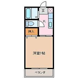 おおみなみ[3階]の間取り