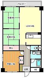 茶佐ビル[6階]の間取り