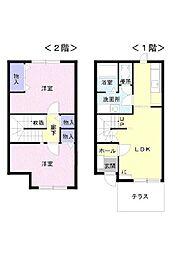 富山県富山市町村二丁目の賃貸アパートの間取り