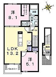アルコバレーノ B[2階]の間取り
