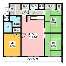 嶋崎ビル[3階]の間取り