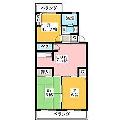 JEAN PALACE 21[1階]の間取り