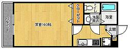 京都府京都市左京区一乗寺下リ松町の賃貸アパートの間取り