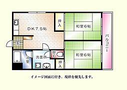 原部ビル--[403号室]の間取り