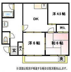 第一山崎ハイツ[1階]の間取り