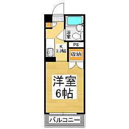 旭ビラ[2階]の間取り