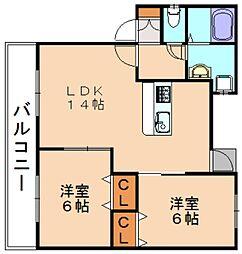 グランドソレイユUMI[1階]の間取り
