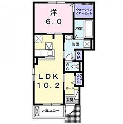 JR東海道本線 焼津駅 バス13分 石津南下車 徒歩6分の賃貸アパート 1階1LDKの間取り