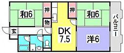 第2鈴峰ビル[5階]の間取り